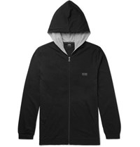 Hugo Boss Tretch Cotton Jerey Zip Up Hoodie Black