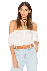 Paige Lucille Top White