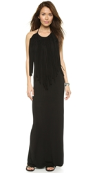 Young Fabulous And Broke Georgie Fringe Maxi Dress Black