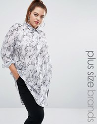 One One Three Marble Woven Shirt White
