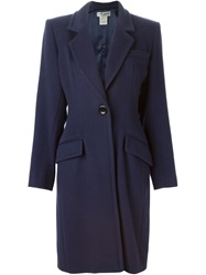Yves Saint Laurent Vintage Classic Coat Blue