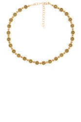 Frasier Sterling Daisy Lovin' Choker Metallic Gold