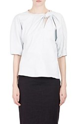 Isabel Marant Women's Leather Byram Top White Size 0 Us