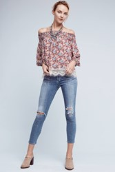 Anthropologie Citizens Of Humanity Rocket High Rise Cropped Skinny Jeans Denim Light