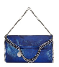 Stella Mccartney Falabella Chamois Fold Over Tote Female Cobalt Blue