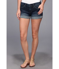 Blank Nyc The Basic Cuff Short In Denim Blue Denim Blue Women's Shorts