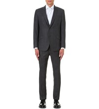 Richard James Regular Fit Shadow Check Wool Suit Grey