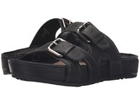 Earth Mystique Black Tumbled Leather Women's Sandals