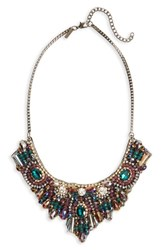 Women's Topshop Crystal And Bead Statement Bib Necklace