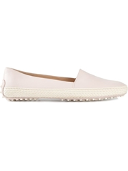 Tod's Leather Espadrilles Pink And Purple