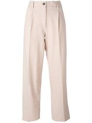 Forte Forte 'My Pants' Straight Trousers Pink Purple