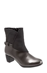 Trotters Women's 'Stormy' Waterproof Bootie Graphite Black Faux Leather