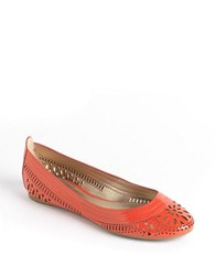 Belle By Sigerson Morrison Andromeda Leather Ballet Flats Coral