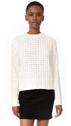Endless Rose Waffle Sweater White