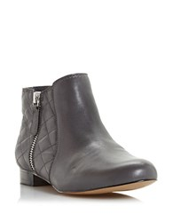 Dune Quest Quilted Leather Booties Grey