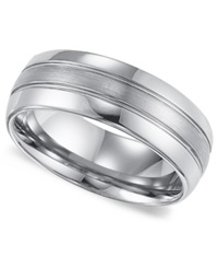 Triton Men's Tungsten Carbide Ring Comfort Fit Wedding Band 8Mm