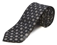 Double Two Polyester Tie Grey
