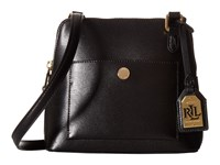 Lauren Ralph Lauren Newbury Bailey Dome Crossbody Black Handbags