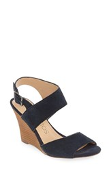 Sole Society Women's 'Landry' Wedge Sandal Ink