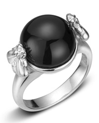 Slane Onyx Sterling Silver Bee Ring Size 7