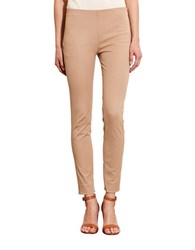 Lauren Ralph Lauren Petite Stretch Cotton Skinny Pant Tan