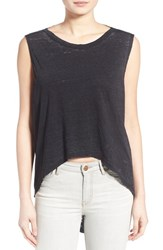 Women's Pam And Gela Open Back High Low Muscle Tee