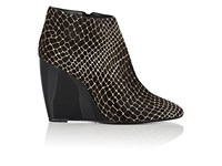 Pierre Hardy Women's Haircalf Wedge Ankle Boots Black White Black White