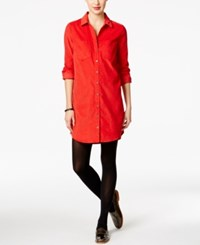 G.H. Bass And Co. Corduroy Shirtdress Classic Red
