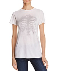 Michelle By Comune Skeleton Graphic Tee 100 Bloomingdale's Exclusive White