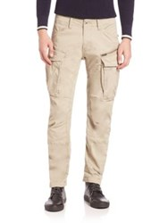 G Star Tapered Pants With Cargo Pockets Dune Grey