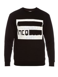 Mcq By Alexander Mcqueen Logo Embossed Cotton Sweatshirt Black Multi