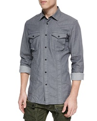 Belstaff Bowman Long Sleeve Washed Denim Shirt