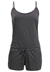 Zalando Essentials Jumpsuit Dark Grey Melange Mottled Dark Grey