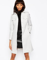 Asos Coat With 70'S Pocket Detail Grey