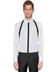 Dsquared Webbing Straps On Cotton Poplin Shirt