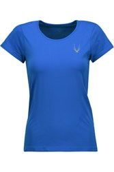 Lucas Hugh Mesh Paneled Stretch Jersey T Shirt Bright Blue