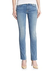 7 For All Mankind Karah Straight Leg Jeans Blue