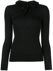 Ermanno Scervino Ruffled Turtleneck Pullover Black