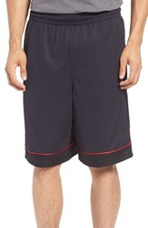 Under Armour Men's 'Baseline' Moisture Wicking Basketball Shorts Black Black