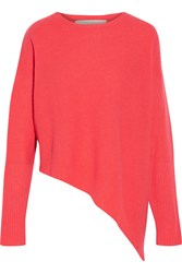Stella Mccartney Asymmetric Cashmere And Silk Blend Sweater Pink