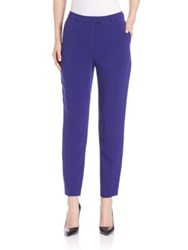 Escada Three Pocket Straight Trousers Open Blue