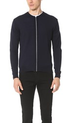 Armoire Officielle Mikael Knit Zip Cardigan Dark Navy