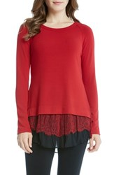 Karen Kane Women's Layered Hem Sweater
