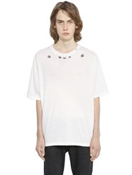 Saint Laurent Oversized Star Printed Cotton T Shirt