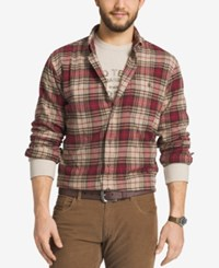 G.H. Bass And Co. Men's Fireside Plaid Flannel Long Sleeve Shirt Oyster Gray Htr