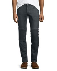 Belstaff Blackrod Slim Stretch Jeans W Knee Panels Charcoal