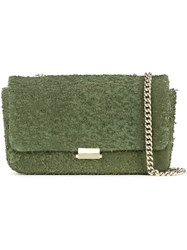 Scanlan Theodore Leather Tweed Crossbody Bag Green