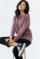 Truly Madly Deeply Piper Button Back Pullover Sweatshirt Maroon