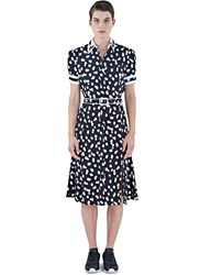 Altuzarra Ella Polka Dot Fil Coupe Dress Black