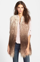 Steve Madden Ombre Faux Fur Vest Brown